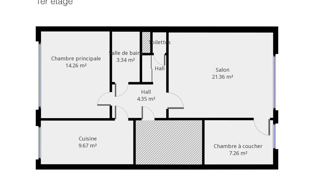 Plan Jean Van Lierde 33 - 1er étage
